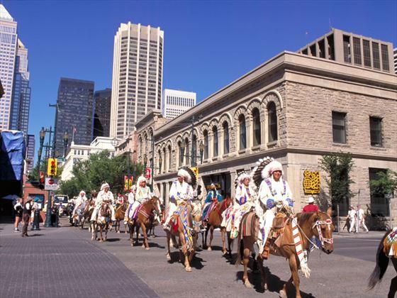 Native Horseman Calgary Stampede Parade, Calgary
