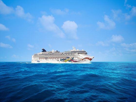 NCL Jewel at sea