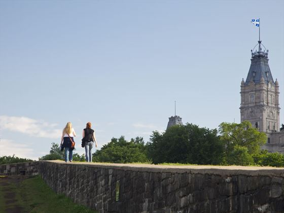 Ramparts in Old Quebec