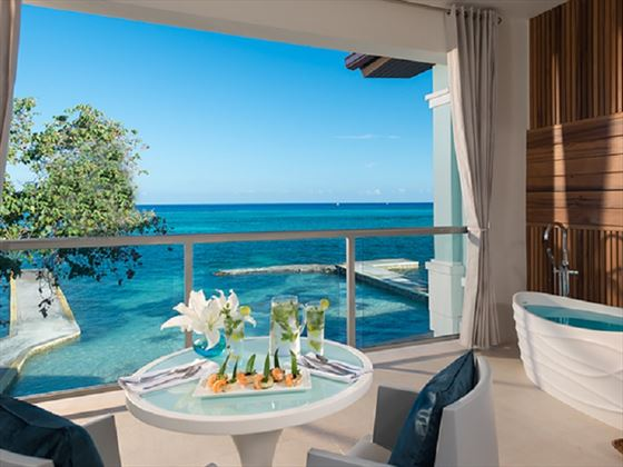 Beacfront Millionaire One Bedroom Suite at Sandals Montego Bay