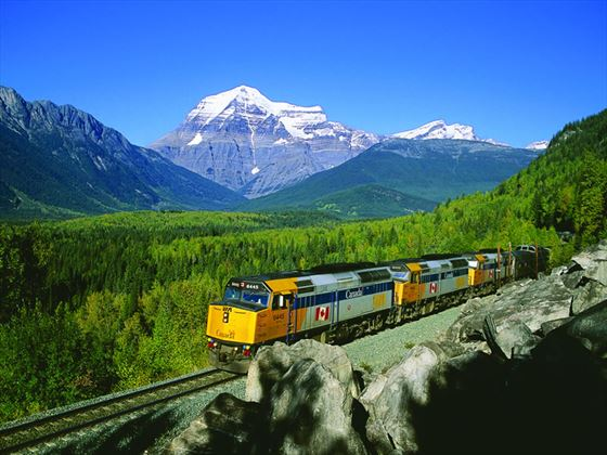 VIA Rail, The Canadian passing through the Rockies