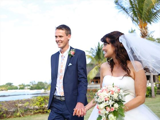Just married at Veranda Paul and Virginie