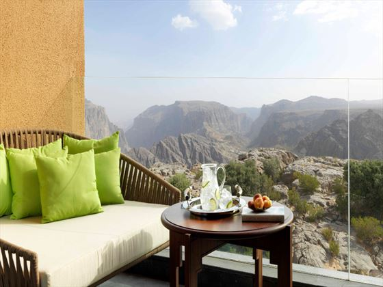 Anantara Al Jabal Al Akhdar Resort Premier Canyon View Room Balcony