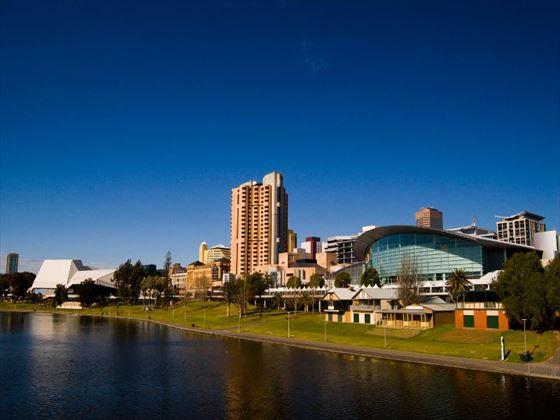 Adelaide as seen from Morphett Street Bridge