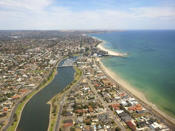 Adelaide's beaches from the air
