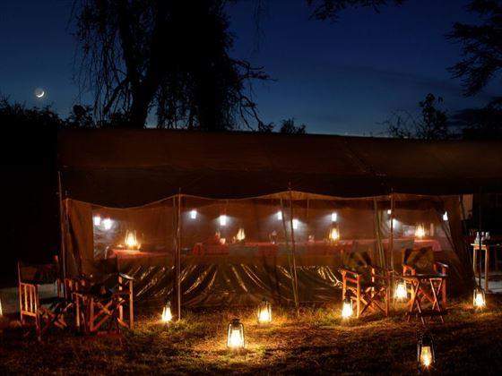 Ol Kinyei camping at night