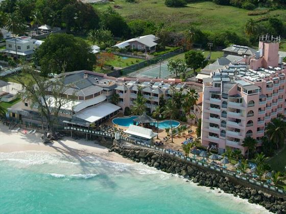 Aerial view of Barbados Beach Club and beachfront
