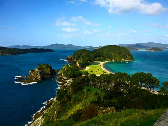 Aerial view of the Bay of Islands
