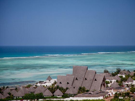 Aerial view of Essque Zalu Zanzibar