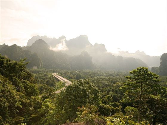 Aerial view of Khao Sok