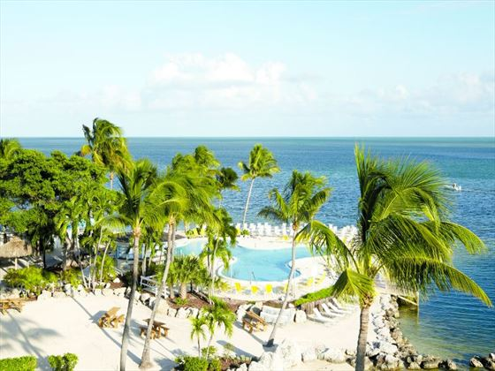 Aerial view of Postcard Inn Beach Resort