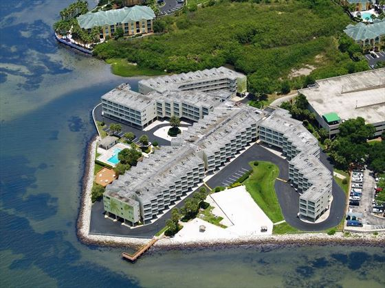 Aerial view of Sailport Waterfront Suites
