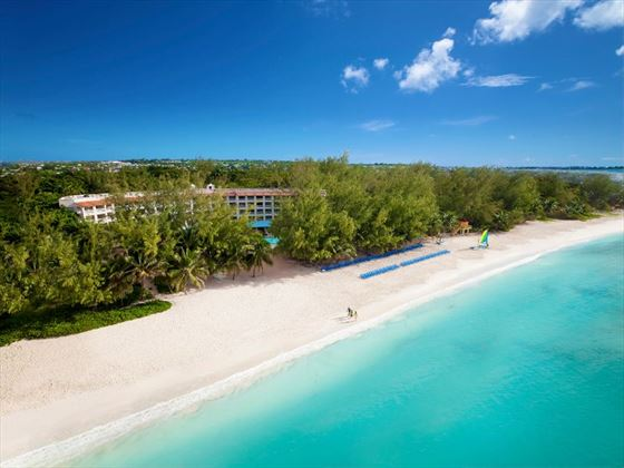 Aerial view of Sandals Barbados