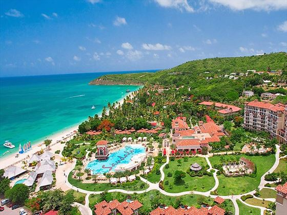 Aerial view of Sandals Grande Antigua Resort & Spa