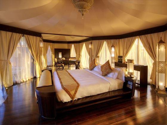 Tented villa bedroom
