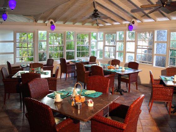 Almond Tree open-air restaurant at Amaryllis Beach Hotel