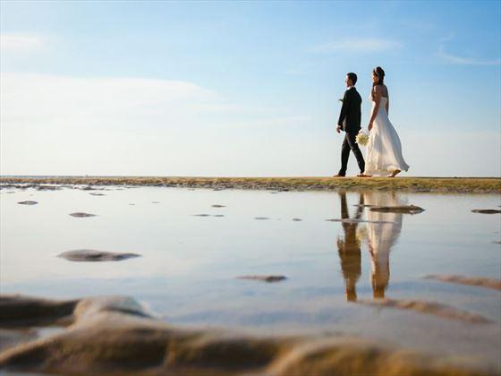 A wedding stroll