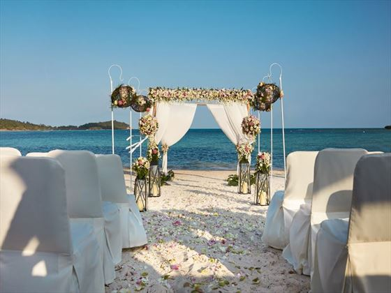 Beach wedding venue at Amari Koh Samui