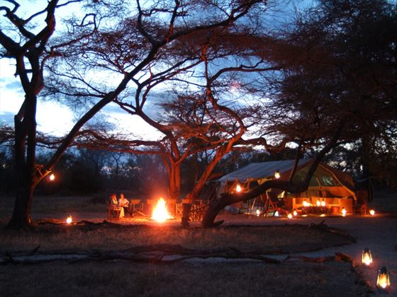Amboseli Porini camp at night