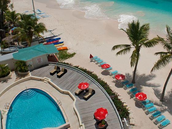 The pool at Radisson Aquatica Resort