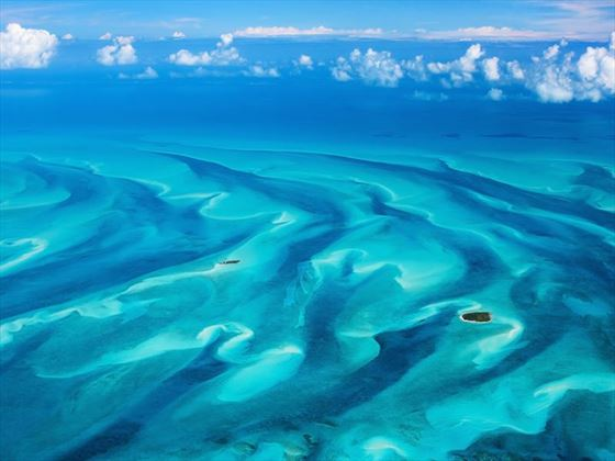 Bahamas viewed from the air