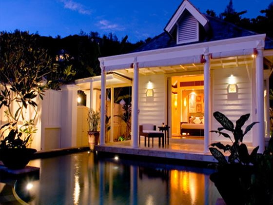 Banyan Tree Two-bedroom Double Pool Villa at night