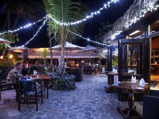 Barefoot Bar courtyard at Pacific Resort Rarotonga