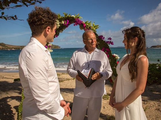 Stunning yet simple wedding ceremony at Bequia Beach Hotel