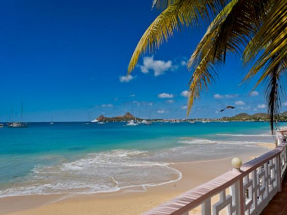 Beach at St Lucian by Rex Resorts