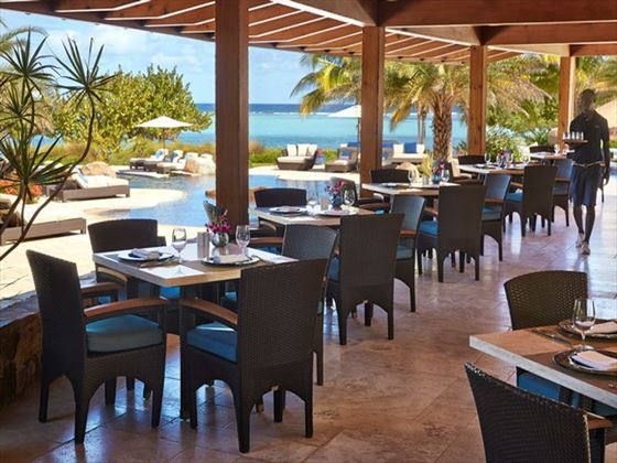 Beach Club restaurant at Oil Nut Bay