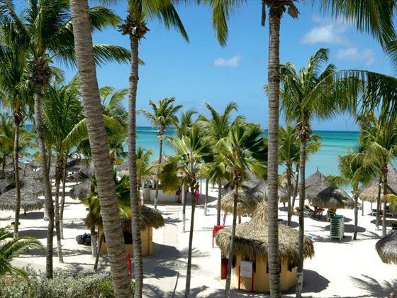 Beach view at Barcelo Aruba