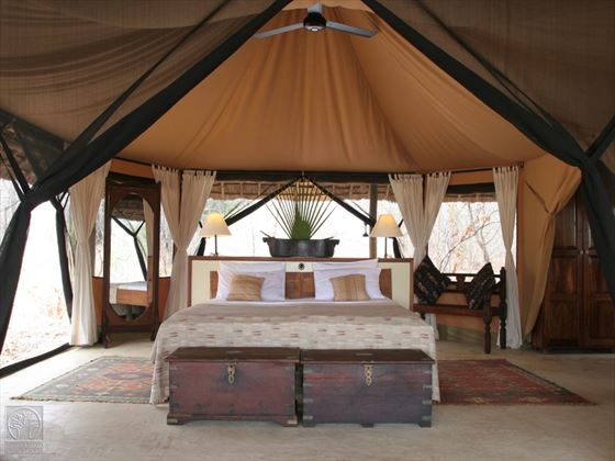 Bedroom at Selous Safari Camp