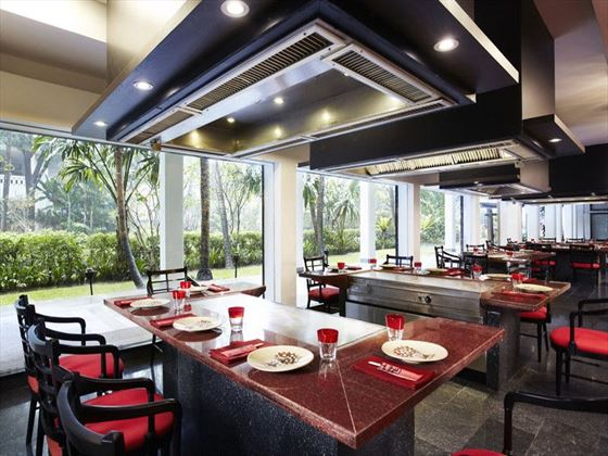 Benihana Teppanyaki area at Anantara Riverside