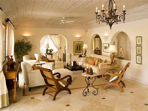 The beautifully furnished living area