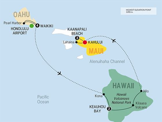 Best of Hawaii route