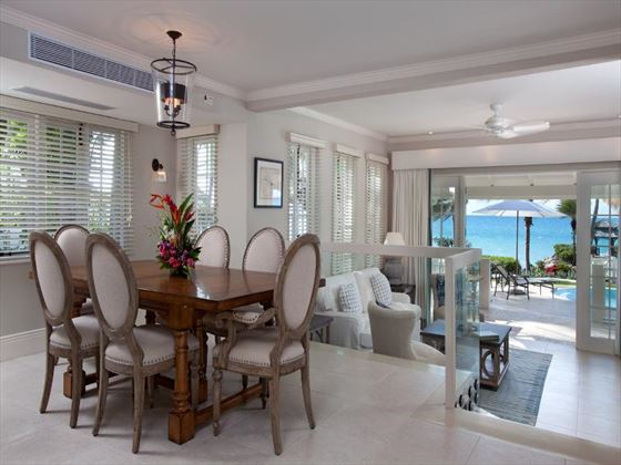 Blue Waters Hotel Beachfront Villa dining area