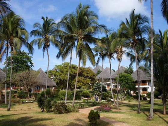 Bluebay Resort and Spa hotel grounds