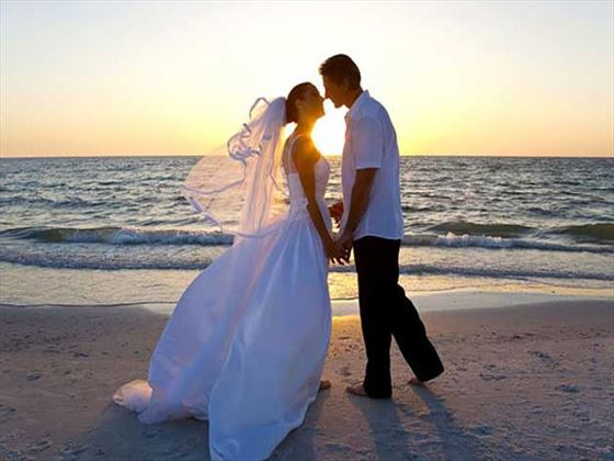 Bride & Groom at the Bluebay Beach Resort & Spa