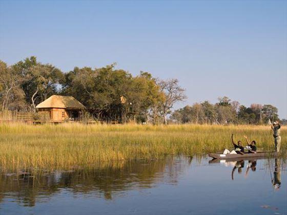 Boat ride along the Okavango Delta at Xudum Delta Lodge
