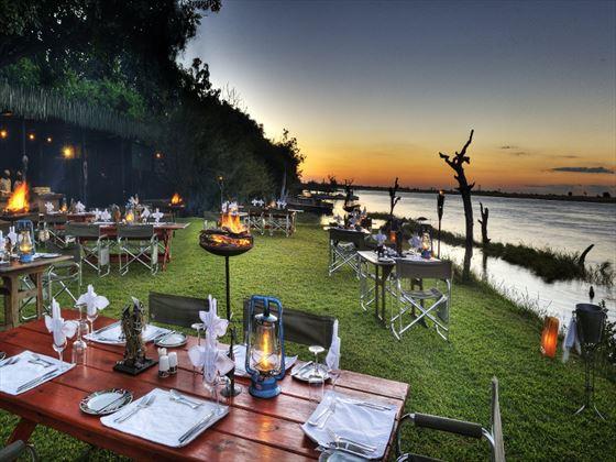 Boma area at Chobe Game Lodge