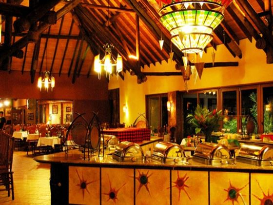 Buffet dining at Keekorok Lodge
