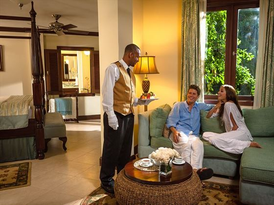 Butler service at Sandals Negril