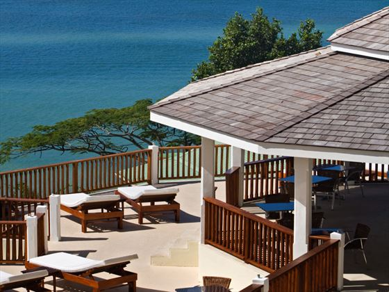Calabash Cove sun deck with loungers
