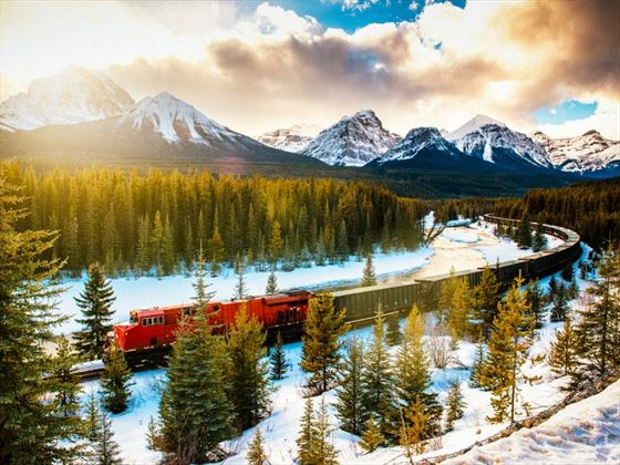 Canadian Pacific Rail through Canadian Rockies