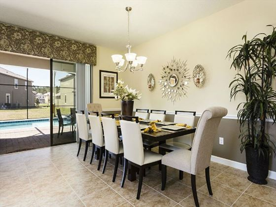Championsgate Resort Platinum Homes Typical Dining Room