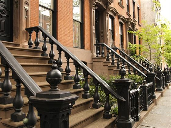Classic Downtown brownstone houses
