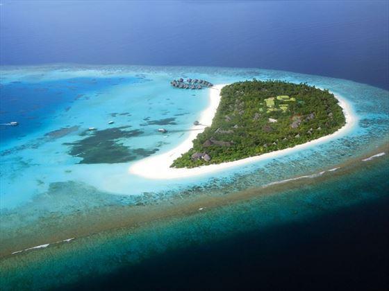 Coco Palm Dhuni Kolhu, aerial view
