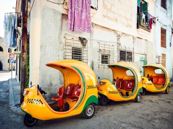 Coco-taxis in Havana