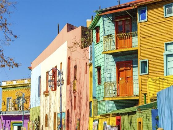 Colourful Buildings in Buenos Aires' vibrant neighbourhoods, Argentina