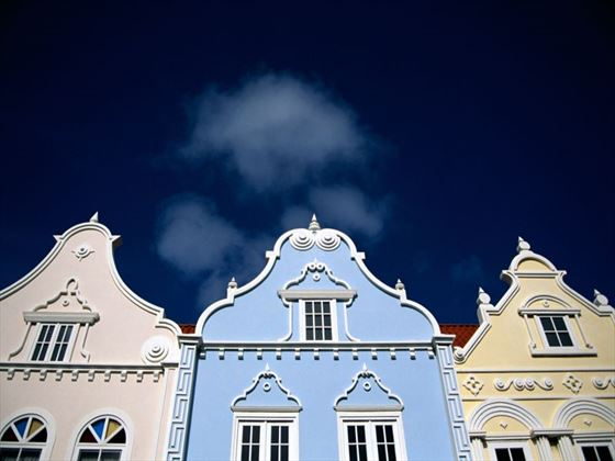Colourful buildings in Oranjestad